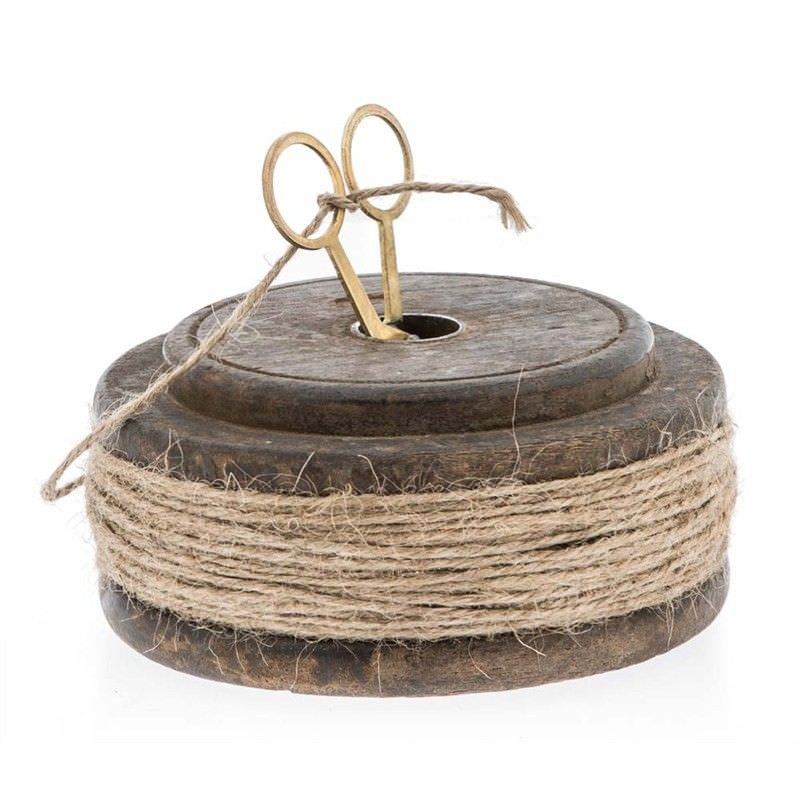 Flat Spool with Twine and Scissors