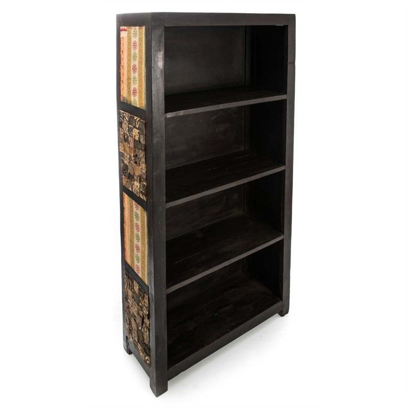 Recycled Timber 4 Shelf Large Book Case