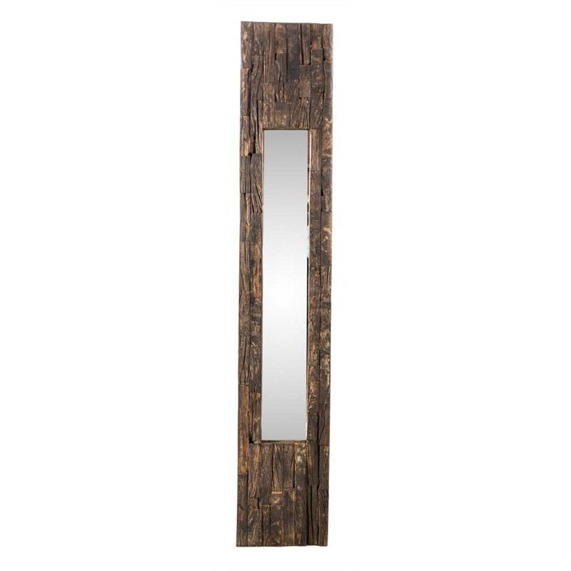 Medium Recycled Wooden Frame Mirror