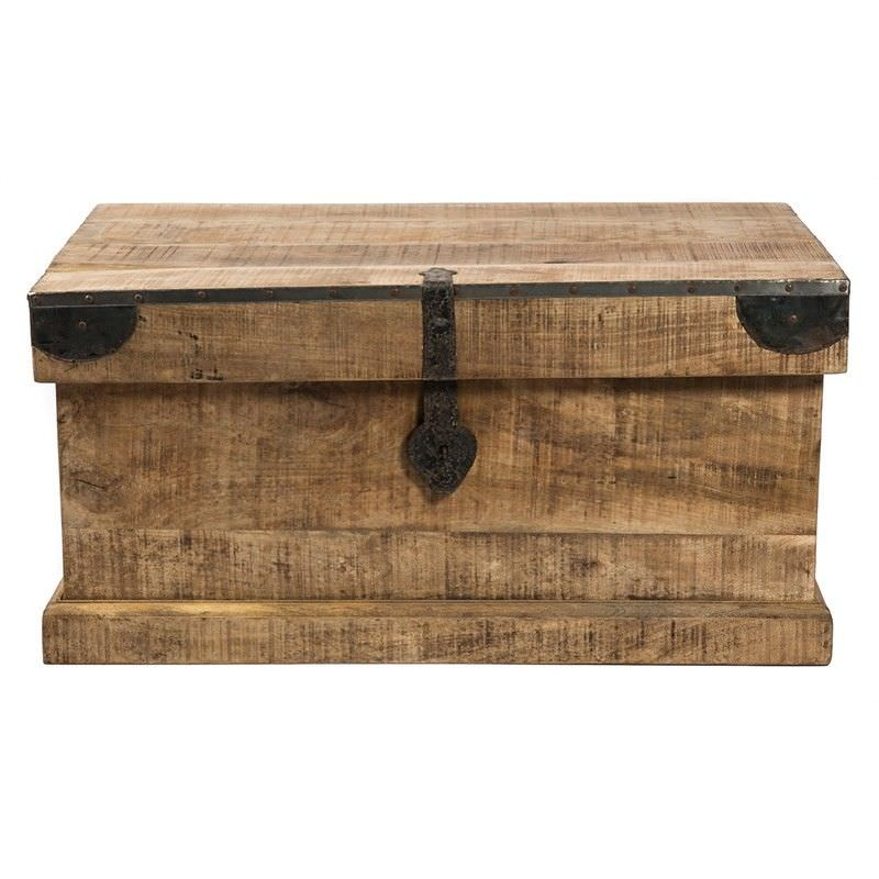 Swazi Solid Mango Wood Timber Blanket Trunk
