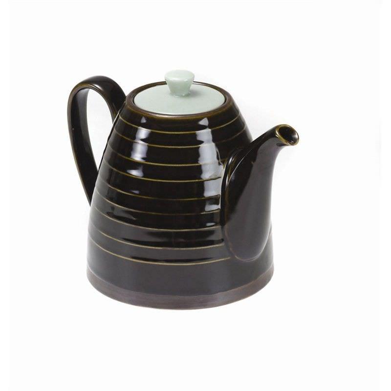 Kyomizu Ceramic Teapot, Charcaol