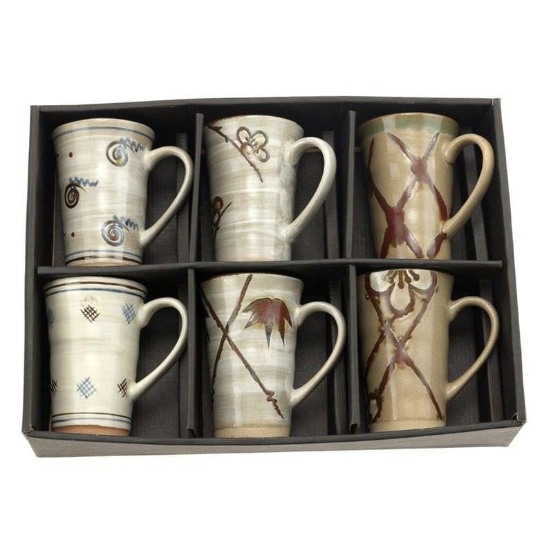 6 Piece Mug Set - Taupe