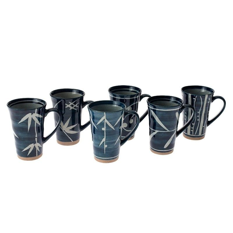6 Piece Mug Set - Blue