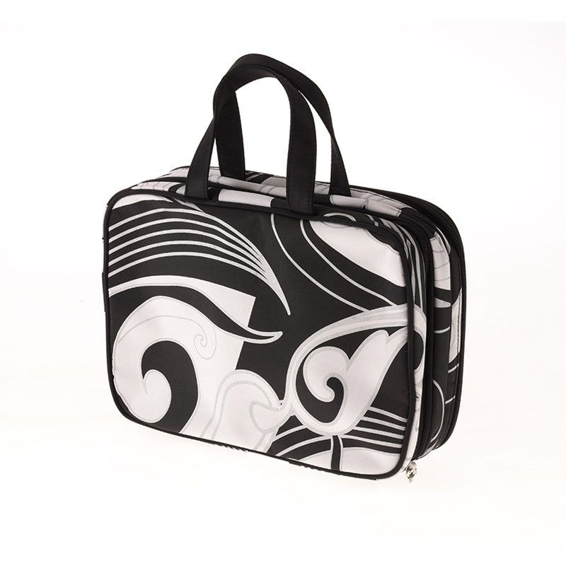 Black Swirl Medium Cosmetic Case