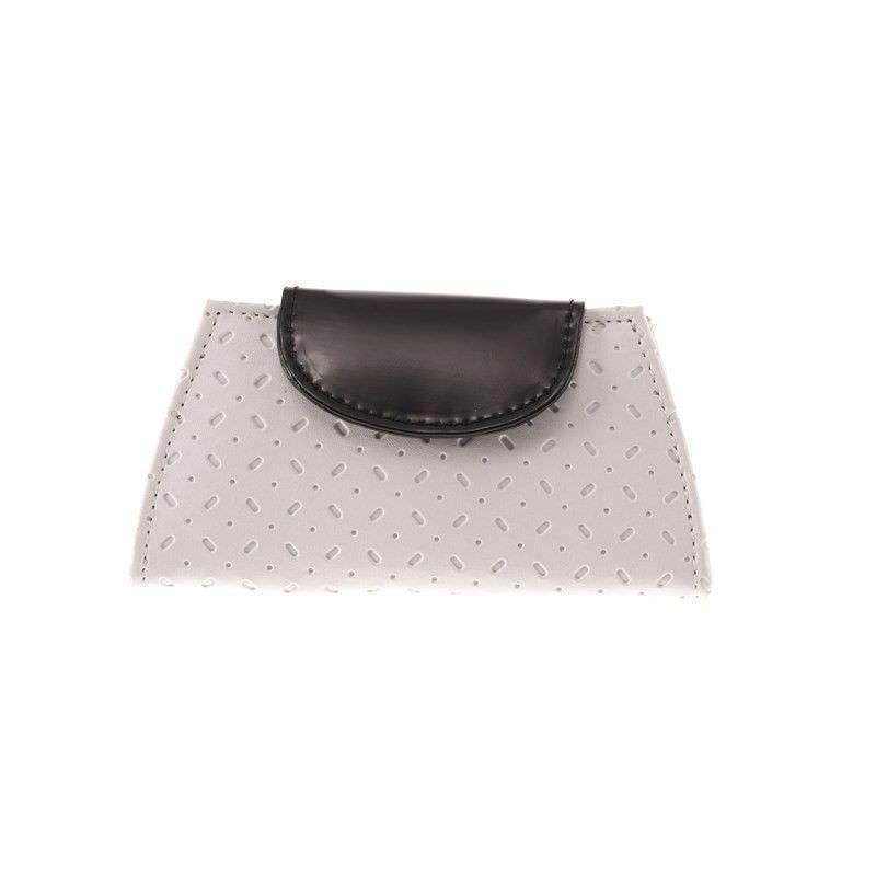 Greta Manicure Set - Black/White Patent PVC with Suede Lining
