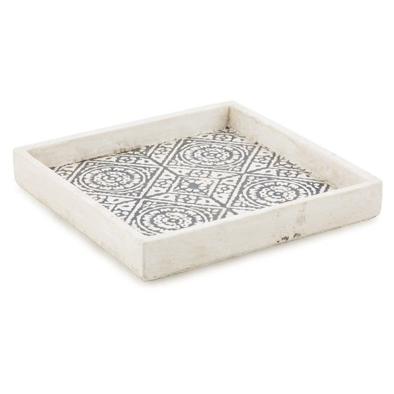 Claremont Cement Square Candle Plate