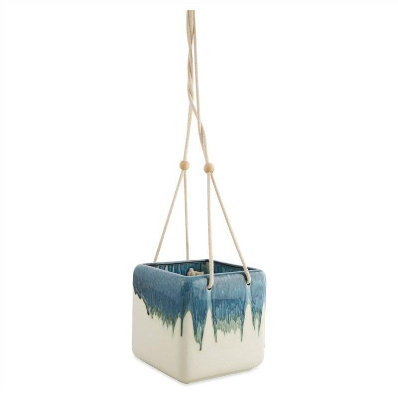Mundarlo Drip Glaze Ceramic Hanging Planter - Large