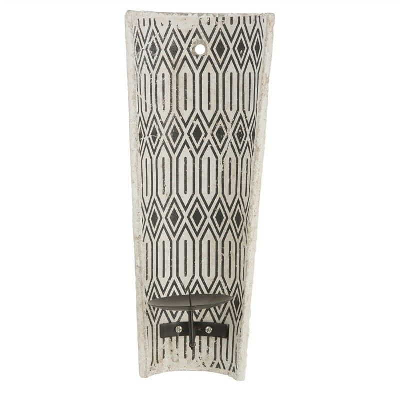 Milawa Ceramic Wall Mount Candle Holder, Charcoal