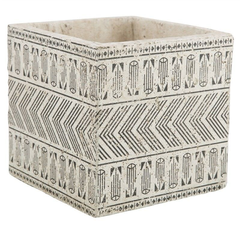 Milawa Ceramic Square Planter, Large, Charcoal