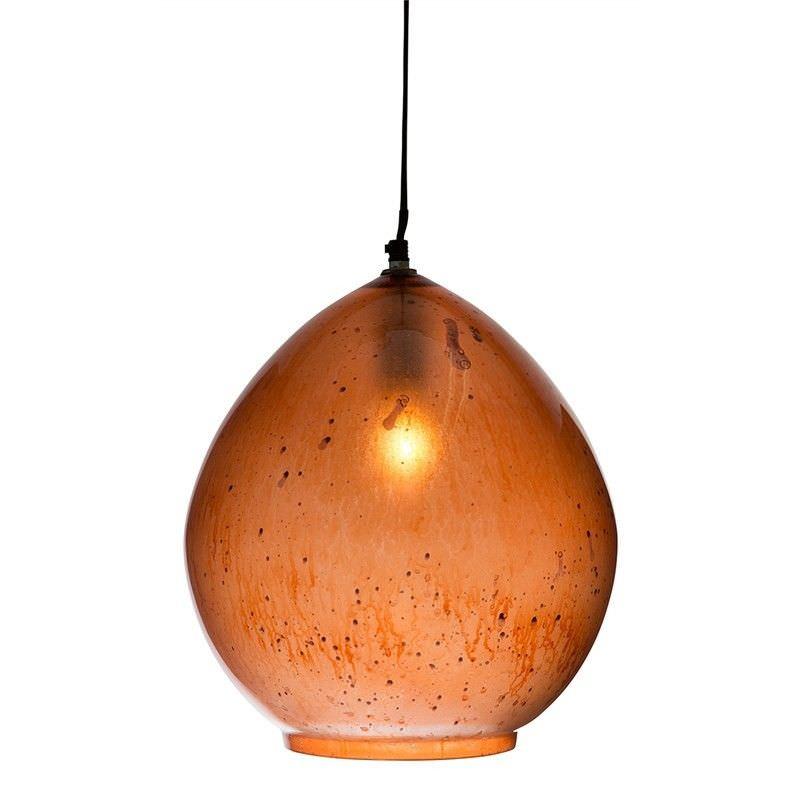 Nottinham Teardrop Glass Pendant Light - Copper