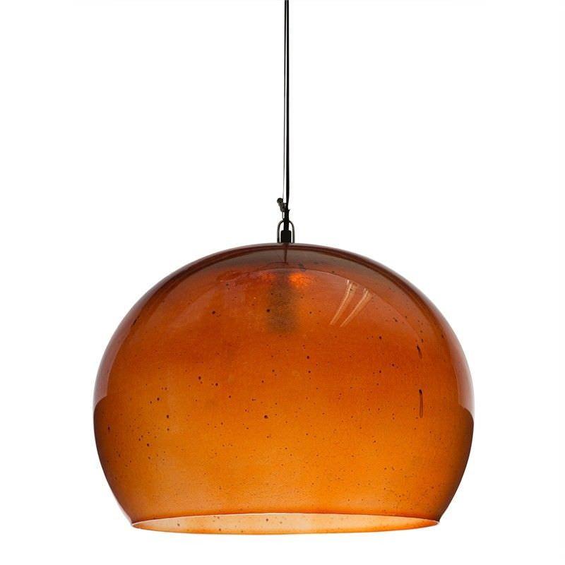 Nottinham Dome Glass Pendant Light - Copper