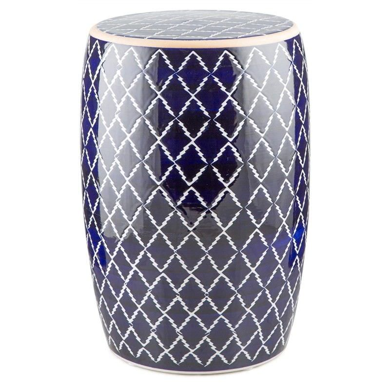 Bartlett Moroccan Ceramic Drum Stool