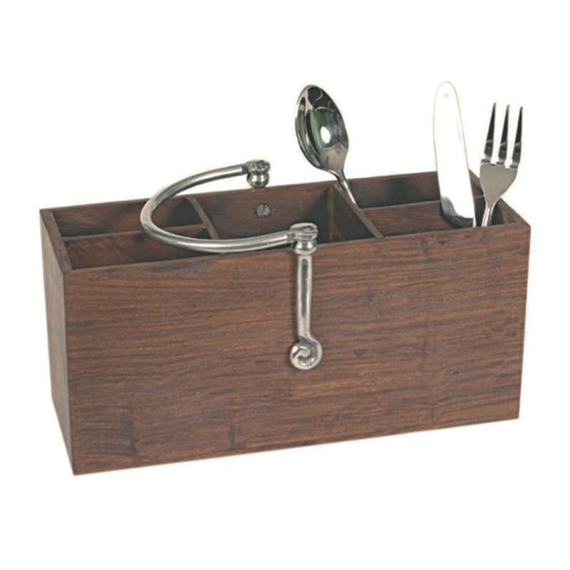 Elegant Swirl-Cutlery Holder