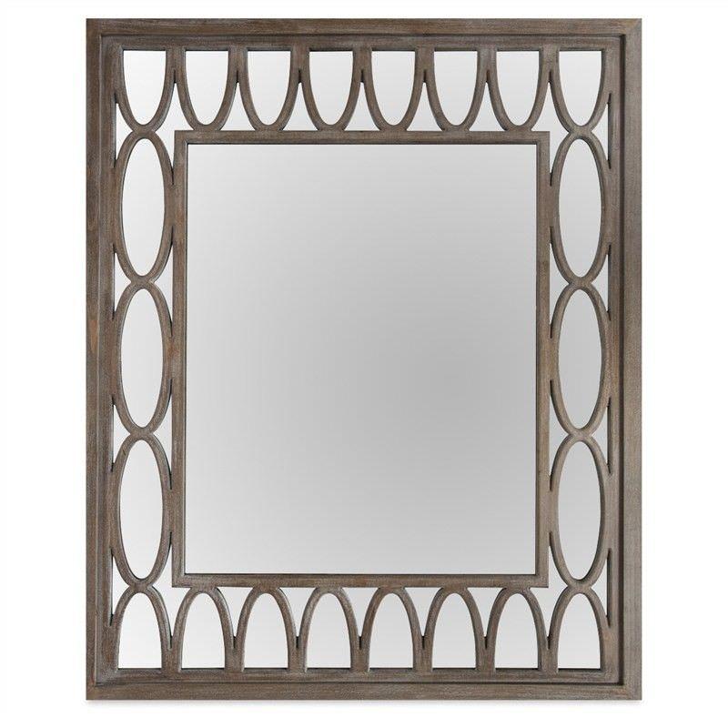 Rosehill Wooden Lattice Frame 110cm Wall Mirror
