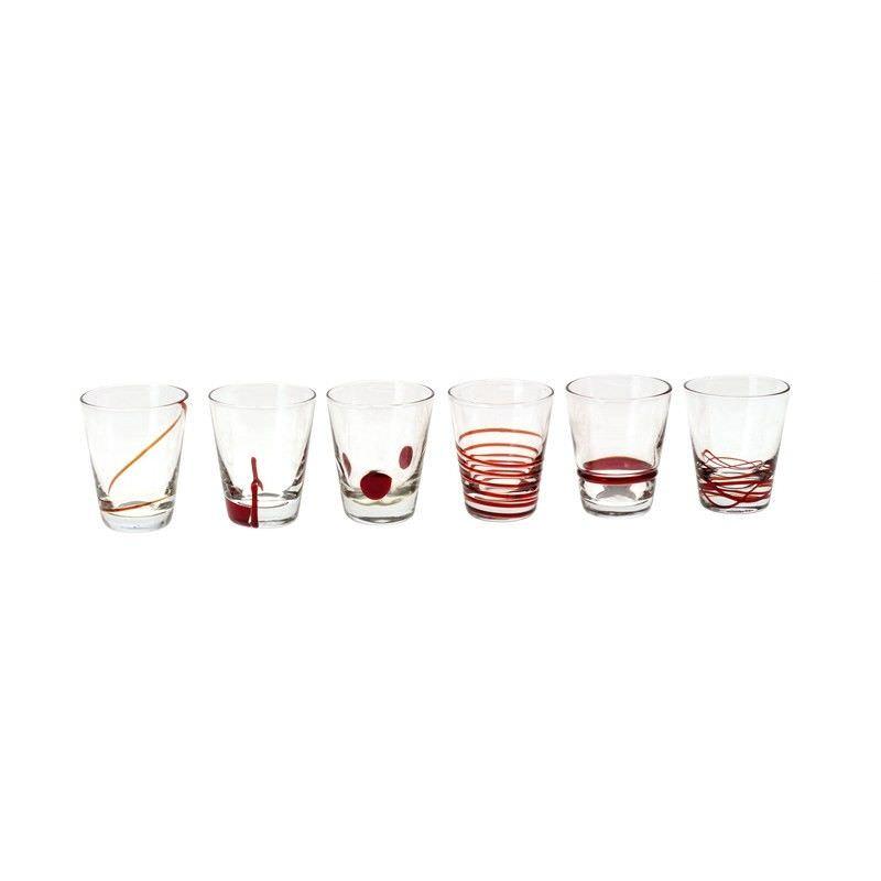 6 pc Shotglass Set - Red