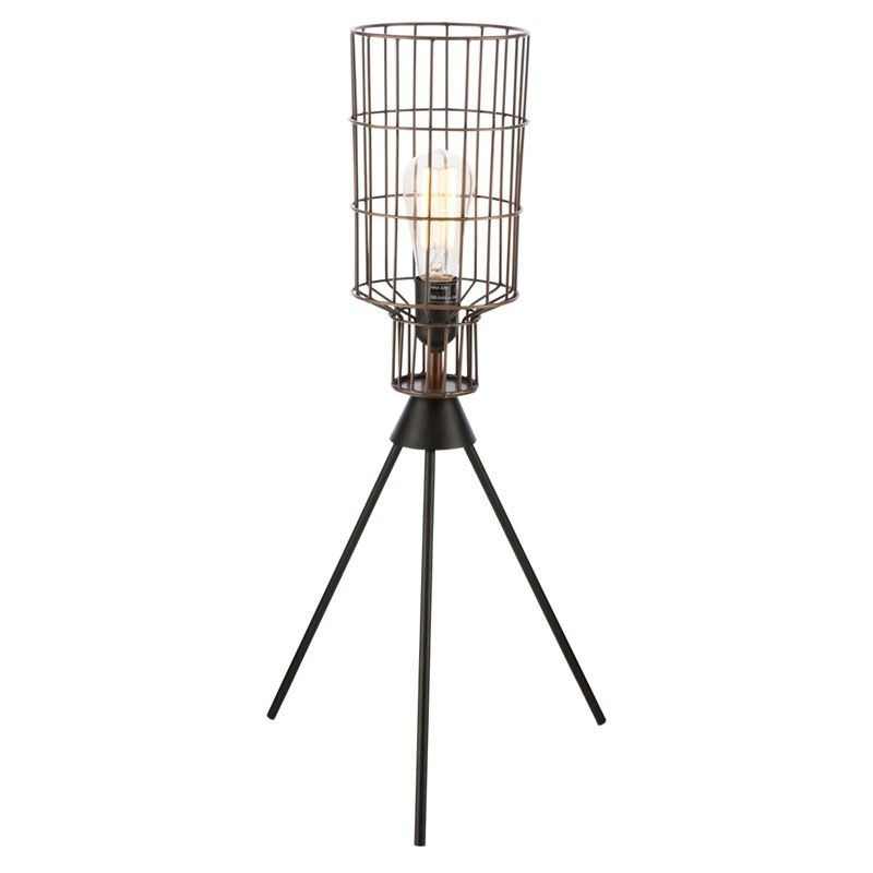Nereus Iron Wire Barrel Table Lamp
