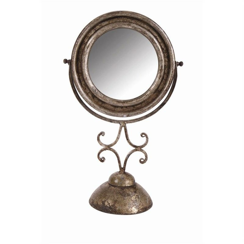 Mirror with Stand - Champagne - 48x30x15cm