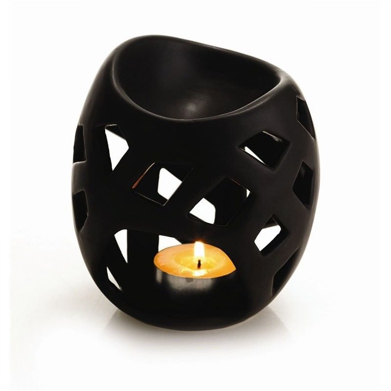 Cutout Oil Burner - Black - 10 x 9 x 12cm