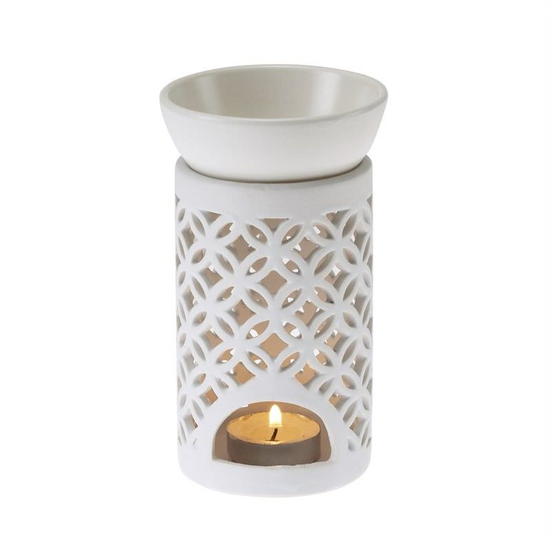 Lattice Oil Burner -Matt White