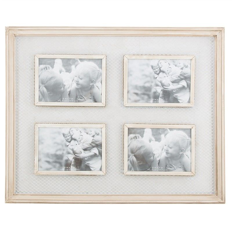 Moxie Wooden 4 Photo Wall Frame with Wire Detail