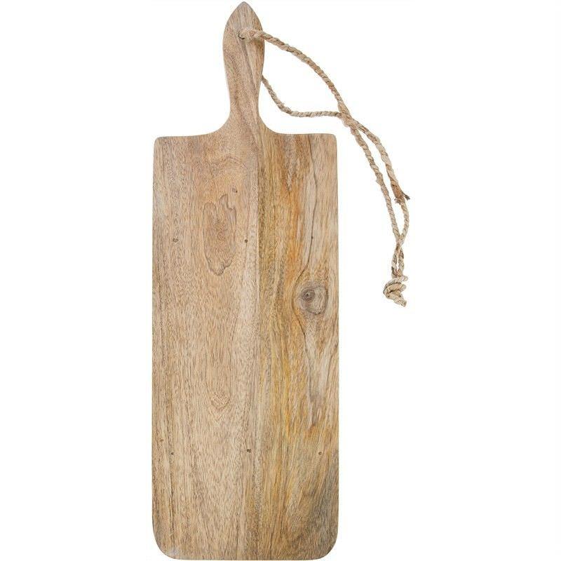 Blayney Solid Mango Wood Timber Long Serving Board with Handle - Medium