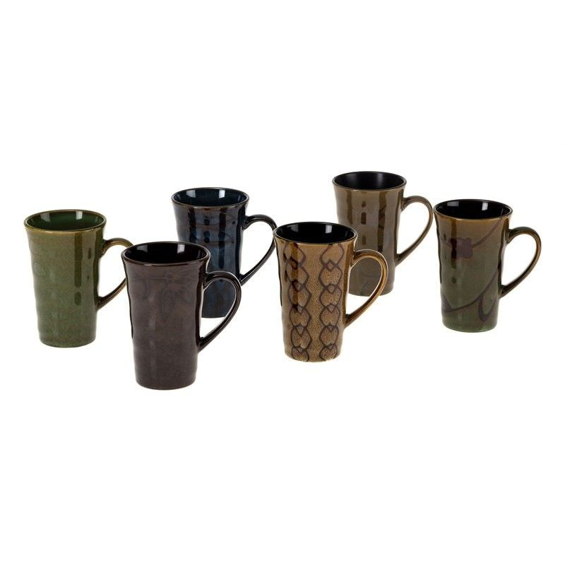 6 Piece Mug Set - Brown