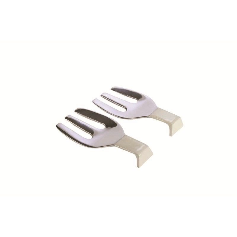 Lorenzo Enamelled Aluminium 2 Piece Serving Fork Set