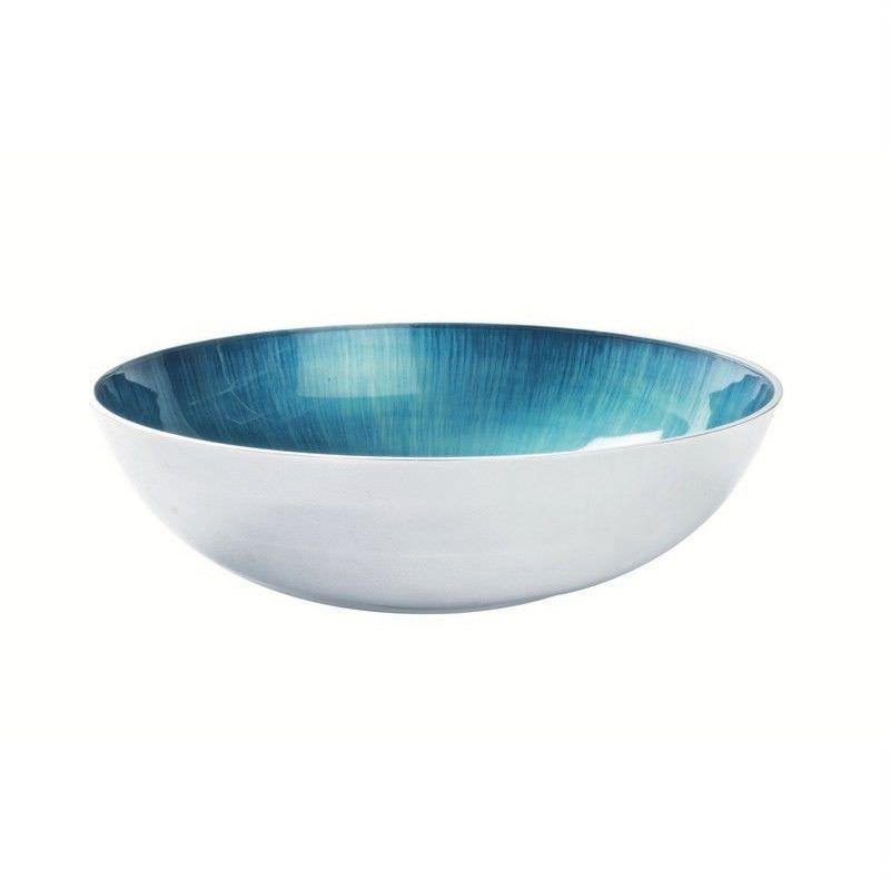 Lorenzo Enamelled Aluminium Round Bowl, Large, Aqua