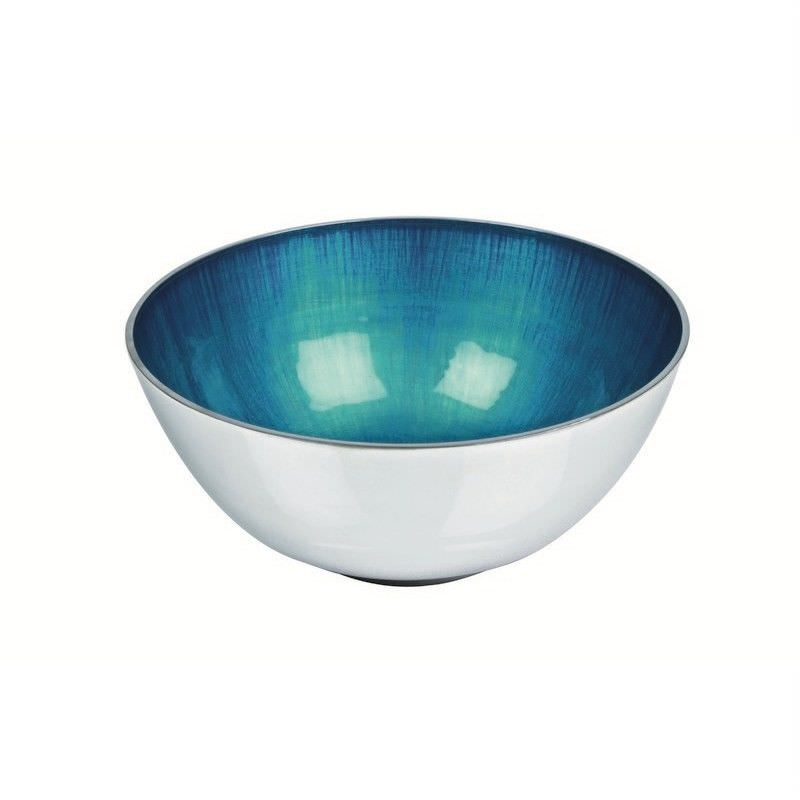 Lorenzo Enamelled Aluminium Round Bowl, Small, Aqua