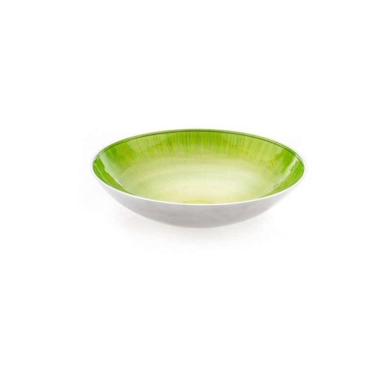 Lorenzo Enamelled Aluminium Round Bowl, Medium, Lime