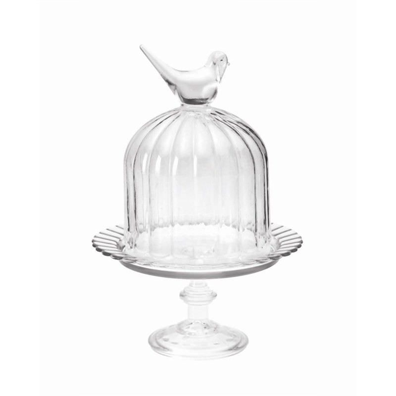 Glass Footed Stand Dome