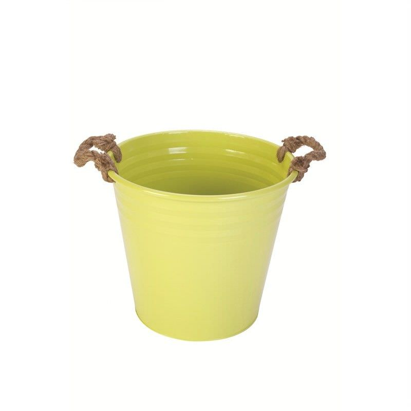 Metal Ice Bucket with Rope - Green