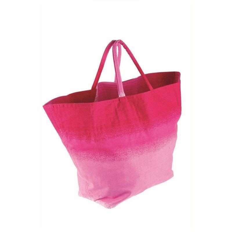 Canvas Beach Bag - Hot Pink