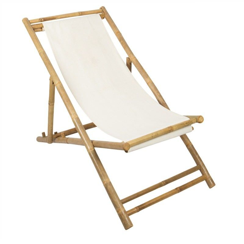 Allison Bamboo and Canvas Relaxing Chair