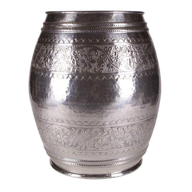 Ironton Embossed Ivy Aluminium Drum Stool