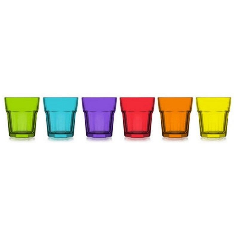 Aras Set of 6 Coral Double Old Fashioned Whisky Tumblers