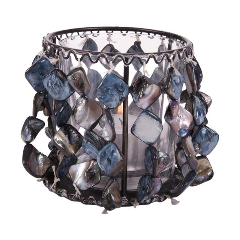 Tealight Candleholder - Shell Grey