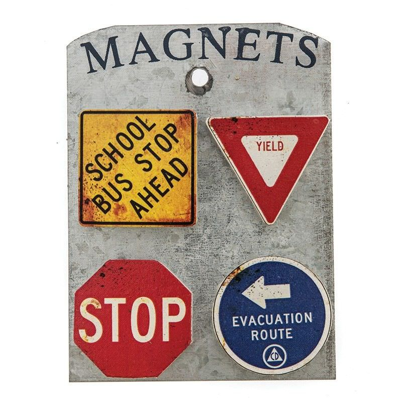 Set of 4 Magnets - Road Signs