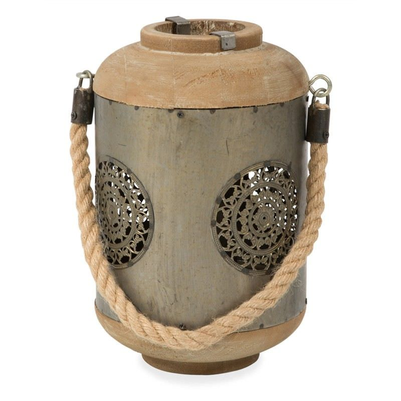 Ulster Cutout Metal Lantern - Pewter