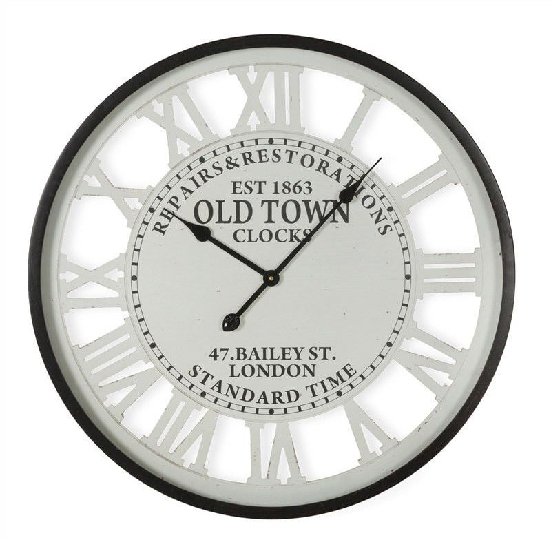 Old Town Iron Round Wall CLock