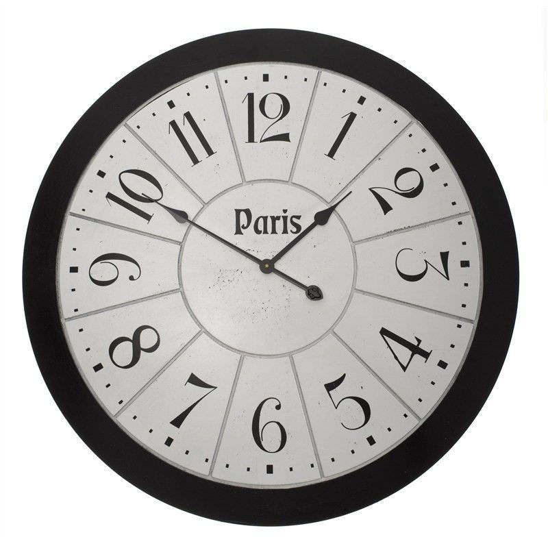 Paris Clock Black-White 80cm