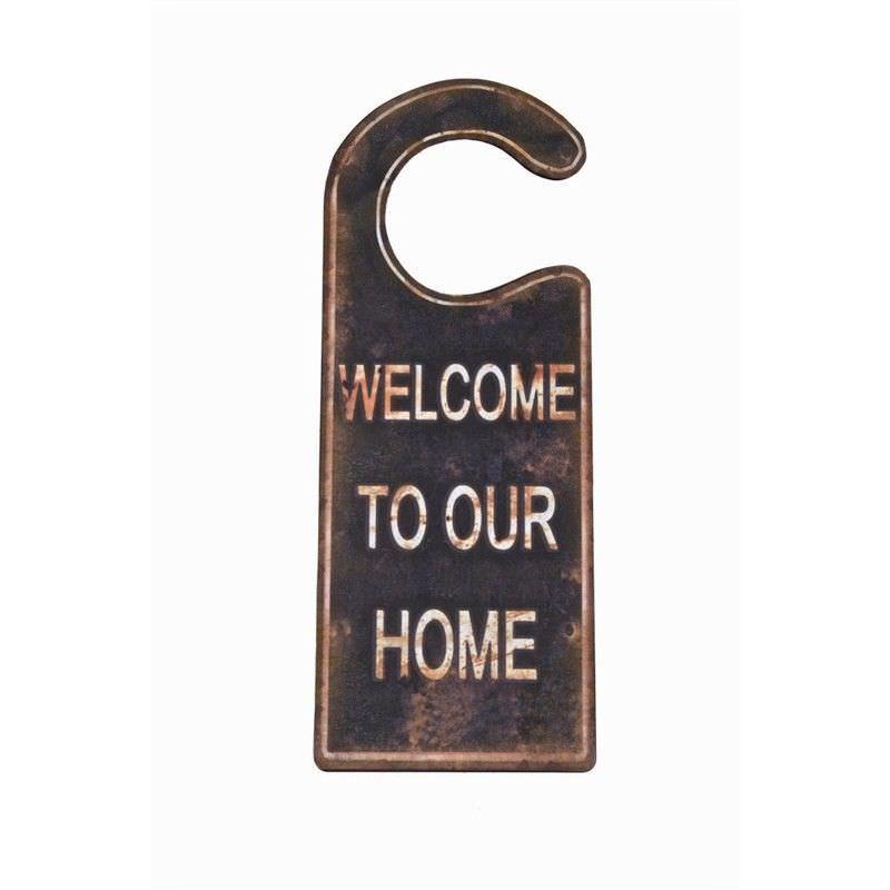 Welcome Door Hanger - 8.5x22.2cm