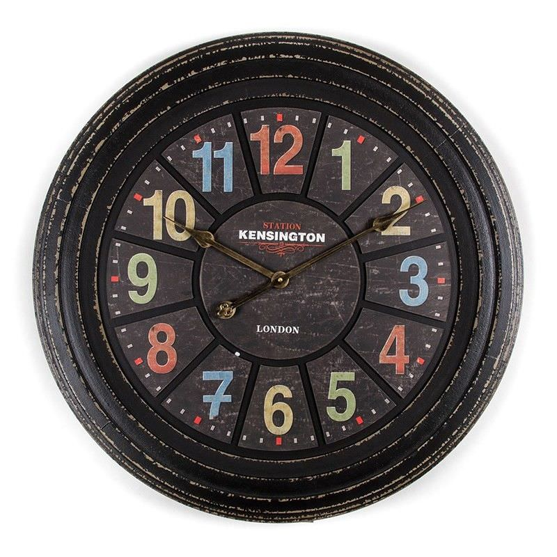 Station Kensington 68cm Round Wall Clock