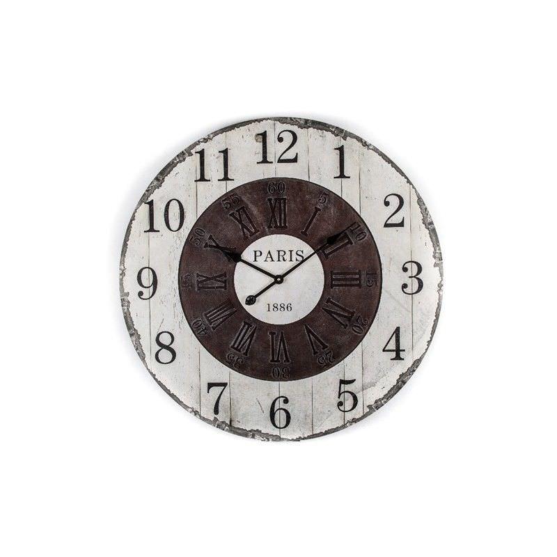 Antique Paris Two Dial 80cm Round Wall Clock