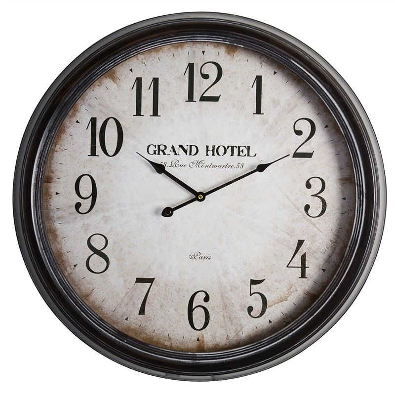 Grand Hotel Paris Iron Round Wall Clock
