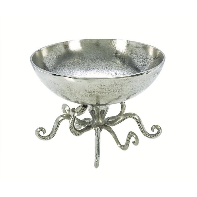 Octopus Antique Aluminium Fruit Bowl
