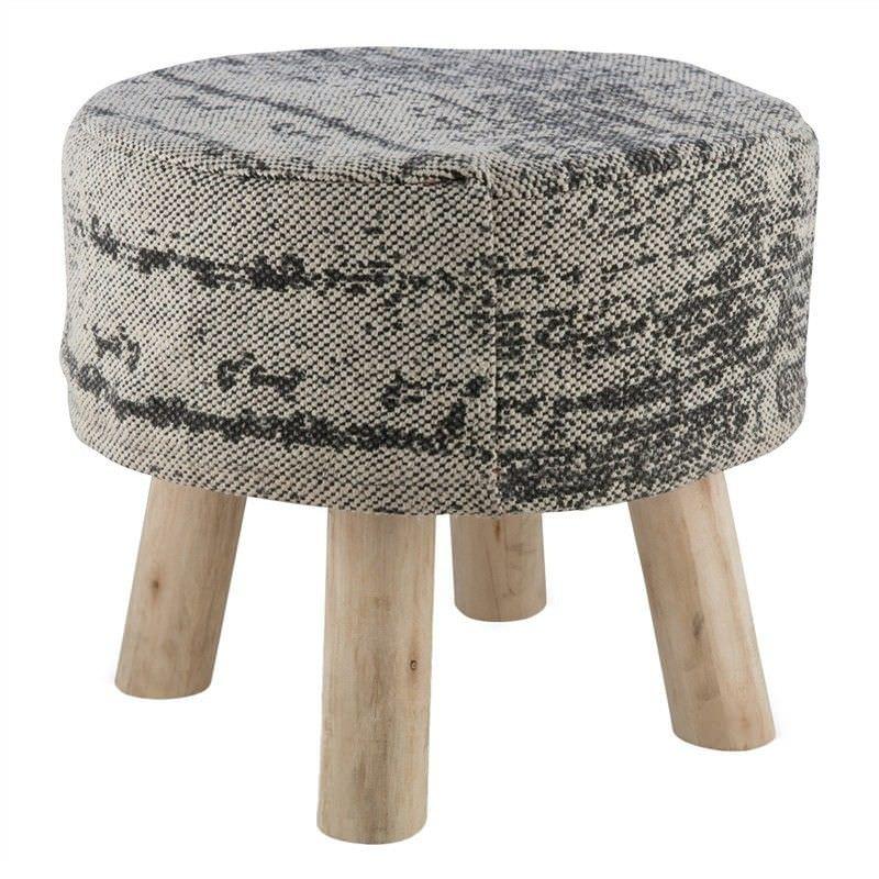 Taromeo Vintage Pattern Cotton Seat Stool