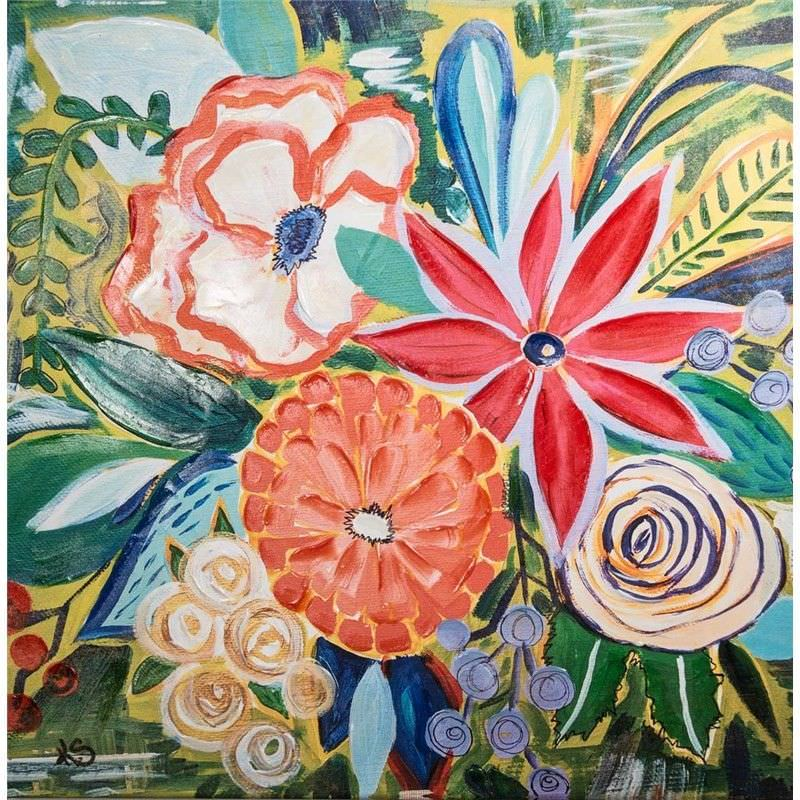 Hand Embellished Giclee Canvas Wall Art - Spring Mix by Kelly Schulz