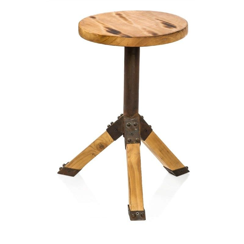 Kokomo Recycled Timber and Metal Round Side Table