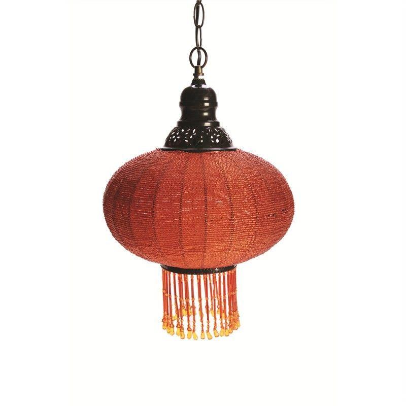 Oriental Pendent Light in Orange